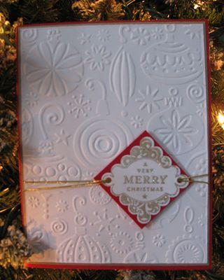 Cuttlebug-card First Christmas cards of the season.